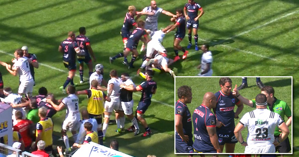 Front row sparks mass brawl and three red cards in Brive vs Grenoble clash