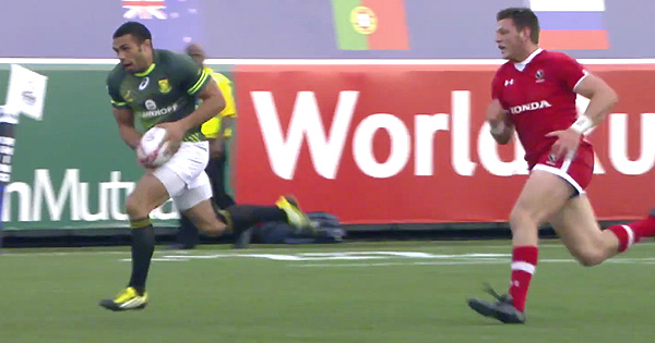Bryan Habana scores first ever 7s try on entertaining opening day in Vegas