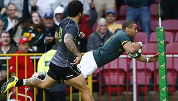 Springboks run riot against strong World XV in Cape Town