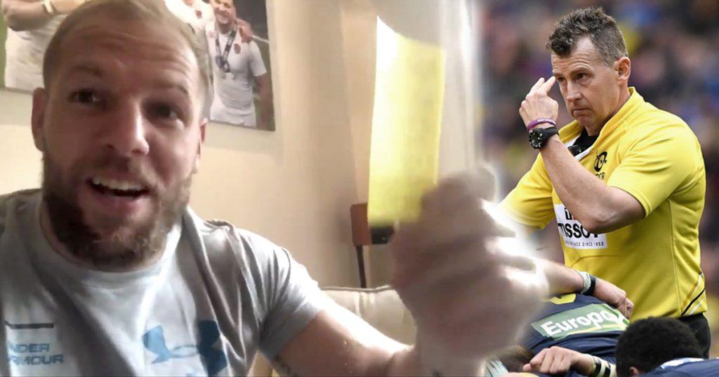 James Haskell received this hilarious gift from refereeing legend Nigel Owens