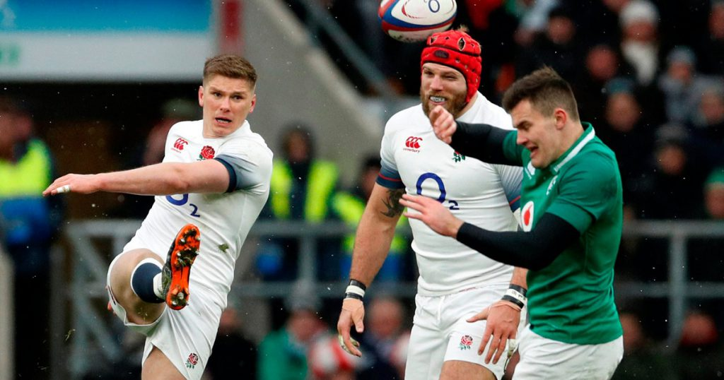 James Haskell cops falcon from Owen Farrell in England's defeat