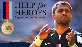 Help For Heroes match raises over 1.1 Million