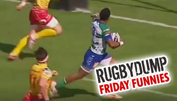 Friday Funnies - Henry Seniloli's premature showboating costs Treviso a try