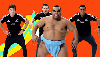 Cory Jane pranks young All Blacks in fake Japanese Noodles Advert