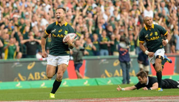 IRPA Try of the Year 2014 awarded to Francois Hougaard and the Springboks