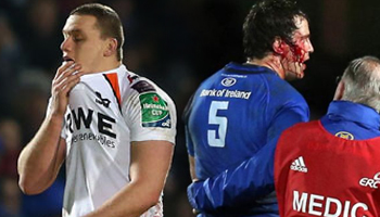 Ian Evans facing suspension after red card for stamp on Mike McCarthy
