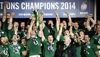 Ireland and O'Driscoll celebrate 2014 Six Nations victory in Paris