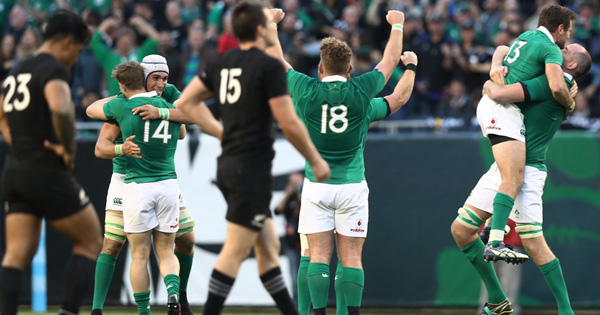Ireland break drought to upset New Zealand for the first time ever