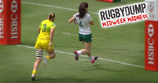 Midweek Madness - Nicole Beck comes out of nowhere to humiliate Irish Women's 7s player