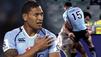 Richard Kahui makes another good hit, this time on Israel Folau