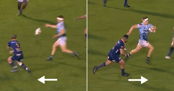 Jack Goodhue's sneaky intercept sets up incredible Northland try