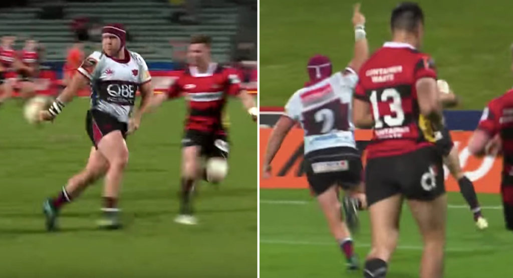 Hooker James Parsons throws sublime inside flick to set up stunning North Harbour try