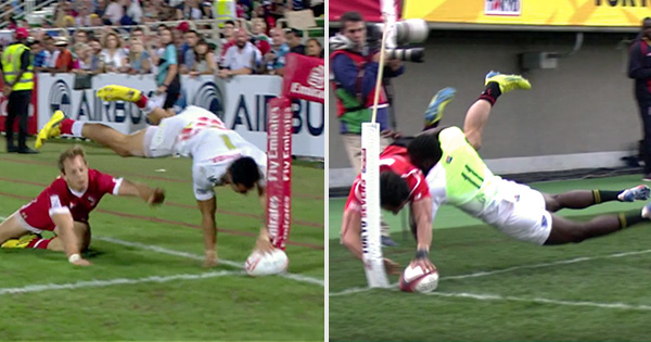 Jamie Henry repeats heroics of last year with yet another unbelievable dive for the corner