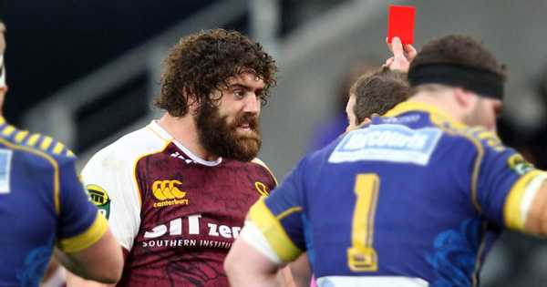 Jamie Mackintosh elbow earns him red and a one week ban