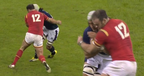Jamie Roberts knocks out Blair Cowan with big tackle in Six Nations thriller