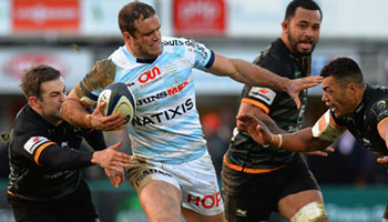 Jamie Roberts excellent pick up off his toes in top Racing Metro performance