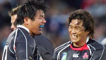 Japan crunching tackles on Canada