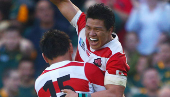 Highlights and celebrations from Japan's famous win over South Africa