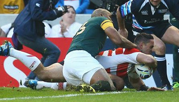 Japan edge South Africa at the death in huge Rugby World Cup upset