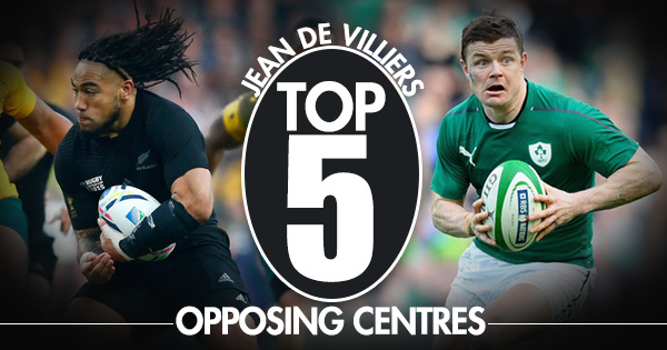 Top 5 Centres: Jean de Villiers picks the best he's ever played against