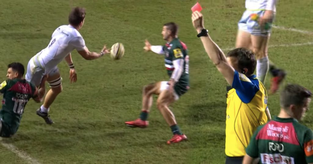 Jonny May cleared after red card for committing same offence twice