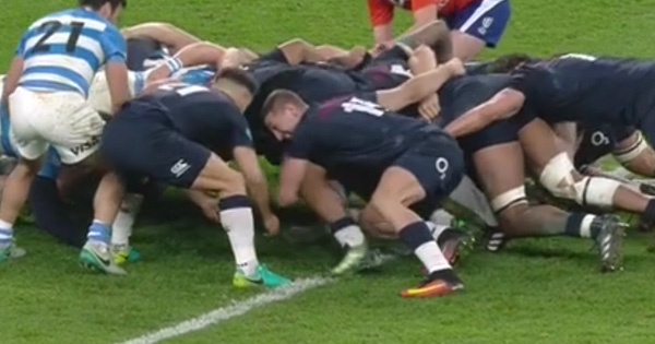 Hilarious footage of wing Jonny May trying to scrum goes viral