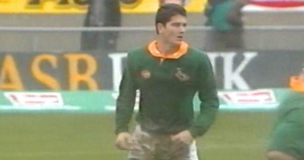 Joost van der Westhuizen scores within 16 seconds against Otago in 1994