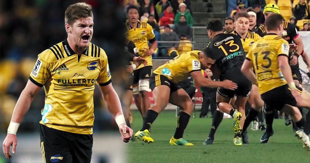 Thumping hits from Barrett and Laumape as Hurricanes beat Chiefs