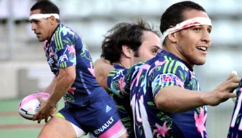 Julien Arias great individual try for Stade Francais