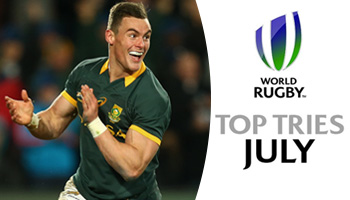 The Top Tries scored in world rugby in July