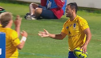 Listen to Karmichael Hunt Mic'd up in Australia's NRC opening game