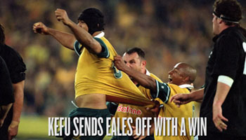 Toutai Kefu gives John Eales dramatic send off vs All Blacks in 2001