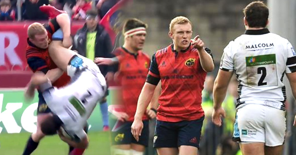 Keith Earls furious after red card for tip-tackle in Munster win