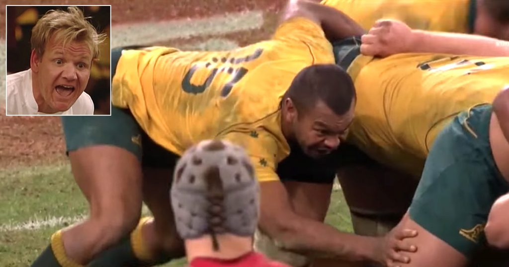 Friday Funnies - Kurtley Beale scrummaging disgusts Gordon Ramsay