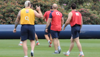 Stuart Lancaster explains David Strettle withdrawal as RWC squad train together