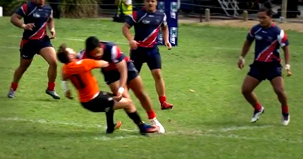 Young 110kg centre demolishes flyhalf with brutal hit in the NRC