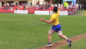The Liam Gill quick lineout quarterback throw in the NRC