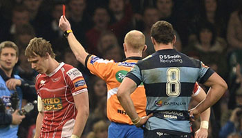 Liam Williams and Robin Copeland face disciplinaries after double red card