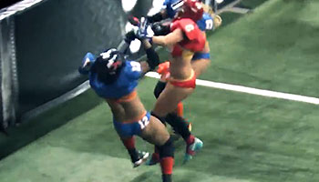 Huge impact in 'Lingerie Bowl' Gridiron game