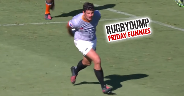 Friday Funnies - The Lionel Cronje around the back dummy bamboozles defence