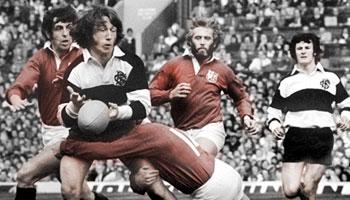 The British Lions vs the Barbarians at Twickenham in 1977