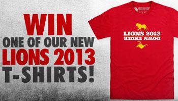 WIN a 'Lions 2013 Down Under' Rugbydump Shirt!