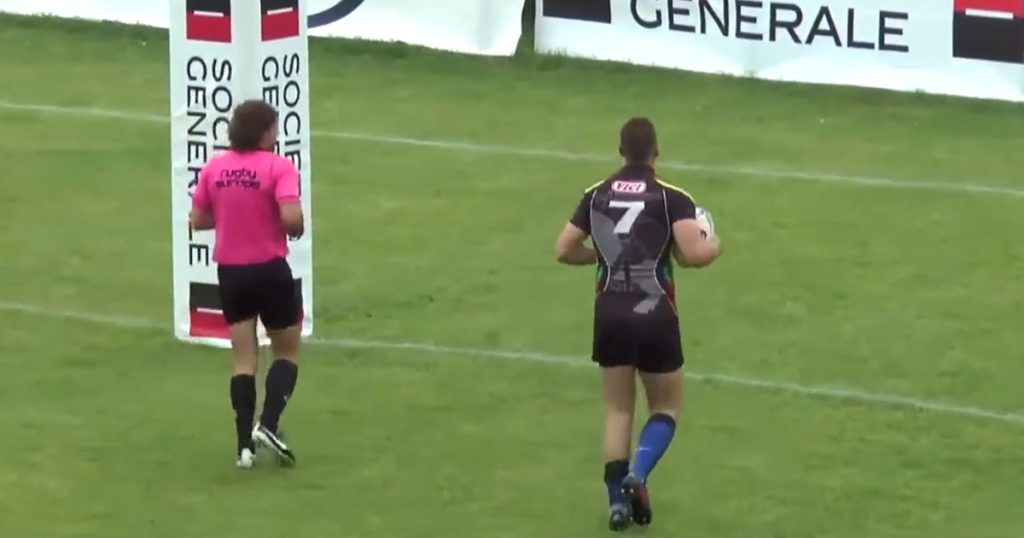 Add this one to the list of the craziest rugby bloopers you've ever seen