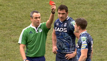 Cardiff Blues' Lloyd Williams red carded for alleged dangerous tackle