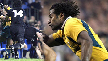 Lote Tuqiri Spear tackle on Richie McCaw