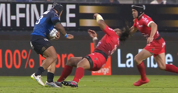 Ma'a Nonu knocked out cold by Anthony Tuitavake, who was clearly upset by it
