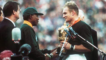 The Springboks and Nelson Mandela - RIP Madiba