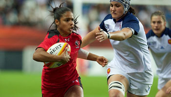 Magali Harvey scores Try of the Tournament contender vs France
