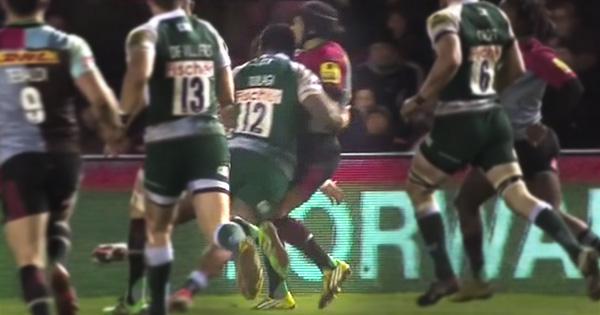 Manu Tuilagi penalised for big shoulder on Winston Stanley