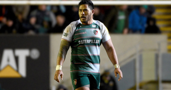 Manu Tuilagi returns from injury to make big tackle on lock Courtney Lawes